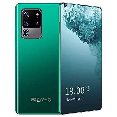 S30U Pro, teléfono Inteligente de Doble Tarjeta y Modo de Espera, teléfono de Pantalla Completa Perforada HD de 6.82 Pulgadas, teléfono móvil con reconocimiento Facial 3G(Verde)