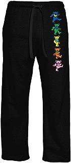 Ripple Junction Grateful Dead Adult Unisex Dancing Bears Vertical Light Weight Pocket Lounge Pants