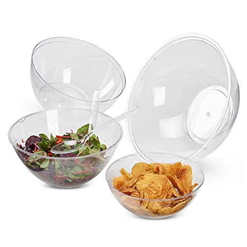 Matana 10 Pezzi Set di Insalatiere in Plastica (4 Misure) e 10 Cucchiai Insalata