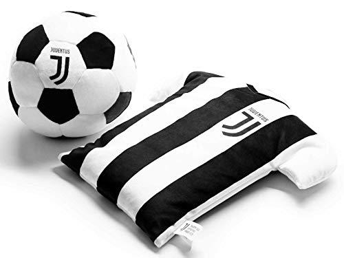 SPORTBAER T-Shirt in Peluche trasformabile in Pallone Ufficiale bianconero Originale Idea Regalo 2 in 1