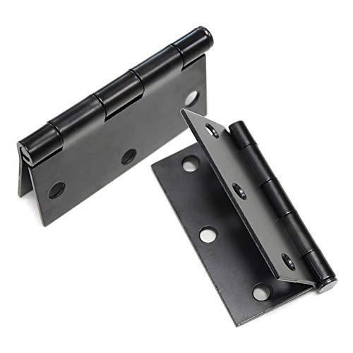 KNOBWELL6 Pack Matte Black Door Hinges Interior Door Hinges, 3.5 Inch X 3.5 Inch Door Hinges with Suqare Corners