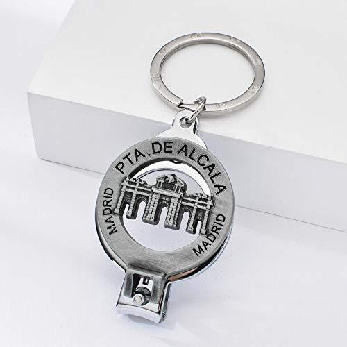 Spanien Tor Von Alcala Nagelknipser Schlüsselbund Vintage-Stil Triumph Tor Schlüsselbund Madrid Reise Souvenir Schlüsselring Geschenk