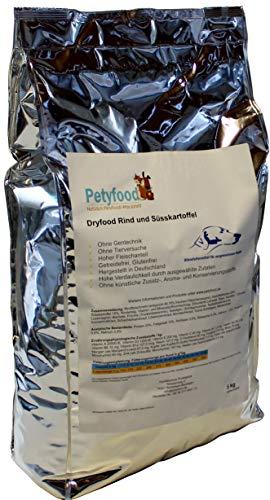 Petyfood Hundefutter Getreidefrei | Dryfood Premium Rind | getreidefreies Trockenfutter für Hunde 5Kg