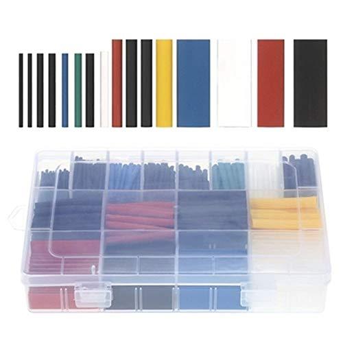 Schrumpfschlauch-Set, elektrische Isolierung, Schrumpfschlauch-Verpackung, Kabel-Set, 5 Farben, 16 Spezifikationen, 580 Stück