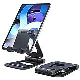 Nulaxy Soporte Tablet, Multiángulo Soporte Tablet/Móvil Compatible con iPad Air/Mini/Pro 9.7, 10.5, 12.9, Phone Series y Todos los Dispositivos de 4-13 Pulgadas - Negro