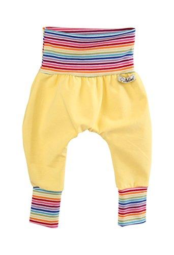 Annsfashion Pantalon Bouffant Pantalon Bébé Pantalon Enfant Violet Travail à Main de qualité en Jersey Uni Multicolore Rayures - Jaune - 86/92 cm