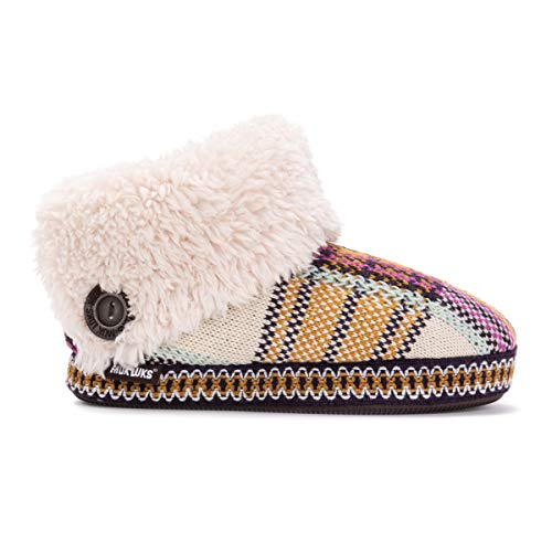 MUK LUKS Women's Melinda Slippers, Ivory, Large M US