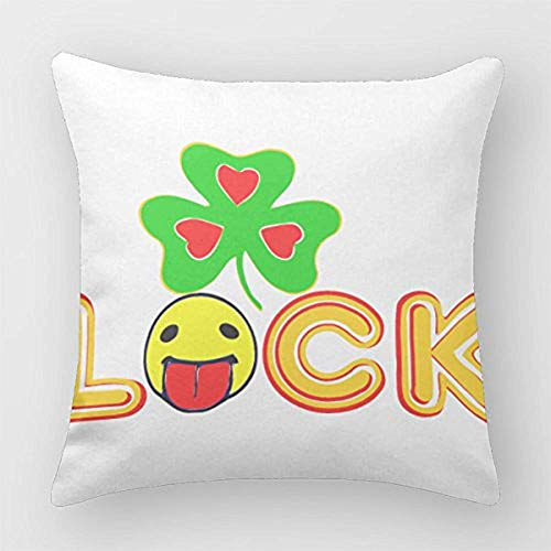 Lick Me For Best Luck Zunge raus Smiley ???? Dekokissenbezug Abdeckungen 45X45Cm Kissenbezug
