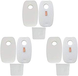 3-Pack Replacement Rocket DuoClean for Shark HV380, HV380W, HV381, HV382, HV383, HV384Q Filter Set,6 pre-filters (3Foam+3Felt) and 3 post-filters, Compare to Shark Part# XFFH380 XPSTFH380, Leacheery