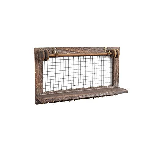 Estante flotante de madera Innovador pared estante colgante, estantes rústicos pared, montado fácilmente   Estantes flotantes de madera perfectos para baño, dormitorio y cocina.