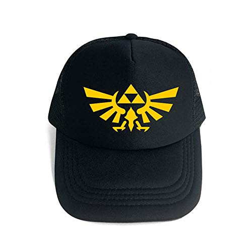 Jaz The Legend of Zelda Casual Cap Mode verstellbar Mesh Baseball Cap Zelda Unisex Hip-Hop Hut (B)