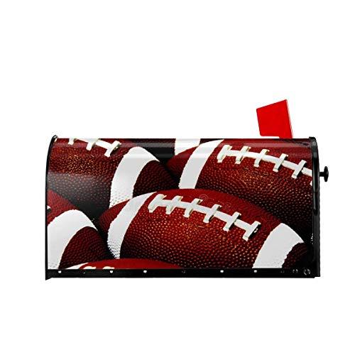 Funny Z American Football Magnetische Mailbox Abdeckungen Willkommen Mailbox Wraps Post Briefkastenabdeckung Garten Wohnkultur 21x18 Zoll