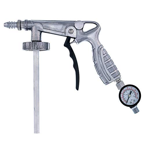 Custom Shop Air Undercoating Spray Gun - Apply, Rubberized Undercoat, Rust Proofing, Chip Guard Paint - Pneumatic Automotive Application Sprayer Includes Regulator fits Quart Cans and Bottles
