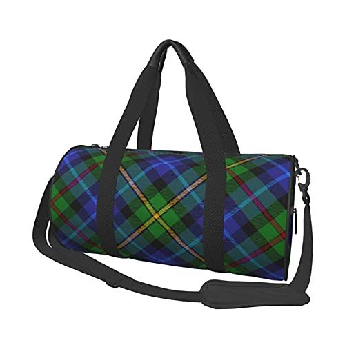 Smith Clan - Bolsa de viaje escocesa a cuadros escoceses, bolsa de viaje grande, bolsa de viaje durante la noche