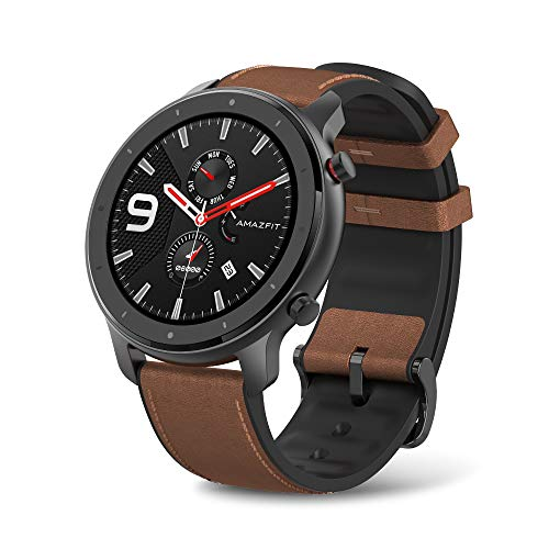 Amazfit GTR Aluminium Alloy Smartwatch with GPS+Glonass, All-Day Heart Rate Monitor, Daily Activity Tracker Rate and Activity Tracking, 24-Day Battery Life, 12- Sport Modes, Answer the Call,47mm