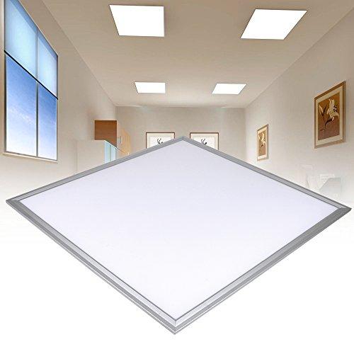 Malayas 5 x Dalle LED 60x60cm Panneau Luminaire Slim Plafonnier Carré pour Maison Bureau ou But Commercial 36W 6000-6500 k Blanc Froid