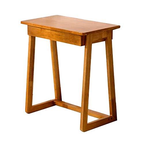 XUERUI tafel, rubberhout, leren, huis, bureau, 1 lade, make-up, tafel, tekening volwassenen kindermeubel