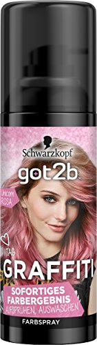 Schwarzkopf Got2b Graffiti Spray Haarfarbe, Unicorn Rosa, 3er Pack (3 x 120 ml)