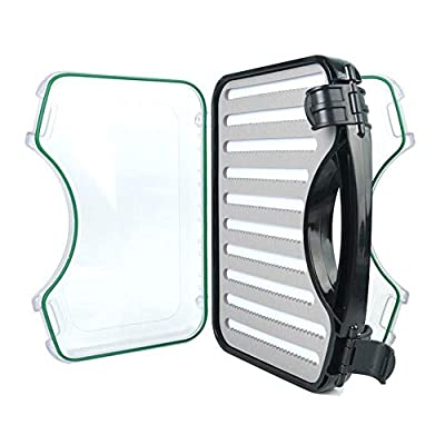 """M MAXIMUMCATCH Maxcatch Waterproof Fly Box for Your Boat or Raft?Boat Box Holds Hundreds of Flies 10.8""""x7.7""""x2.3"""""""