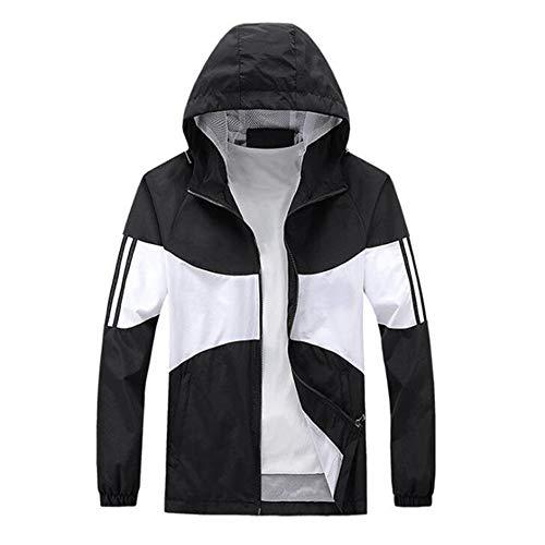Chaqueta deportiva para hombre a prueba de viento ropa de entrenamiento doble delgada con capucha ropa deportiva