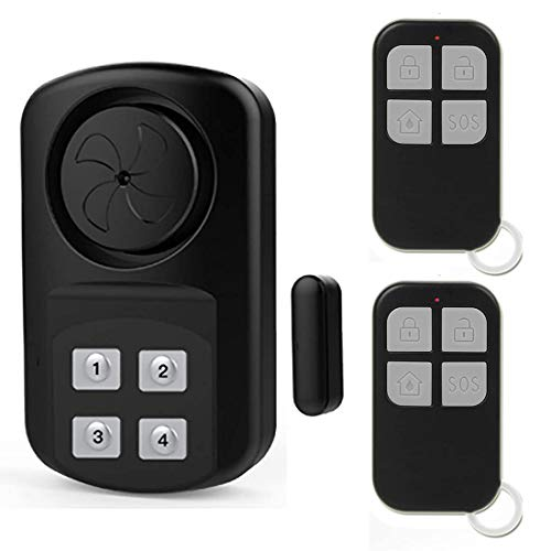Outdoor Gate Pool Alarm with 2 Remote Control Wireless Waterproof Outdoor Sensor Alarm for In ground Pool, Fence, Home, Entrance Alert, Kids Safety