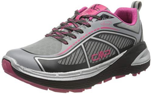 CMP – F.lli Campagnolo Nashira Maxi Wmn Shoe, Zapatillas de Trail Running Mujer, Gris Cemento Antracite 74ue, 40 EU