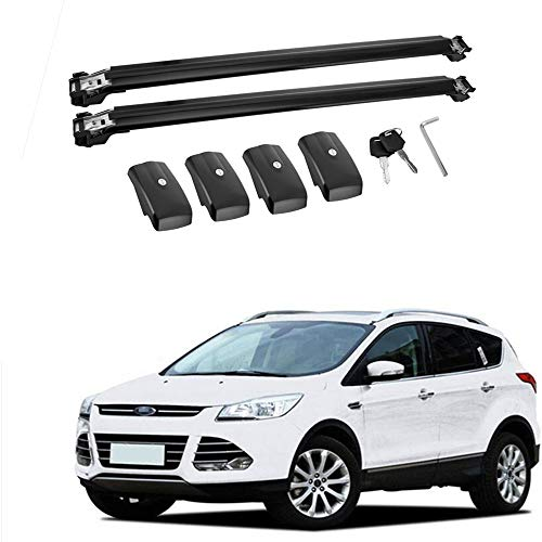 MotorFansClub Roof Rack Cross Bar Fit for Compatible with Ford Escape 2013-2018 Crossbars Luggage Cargo Rack Rails Aluminum Alloy