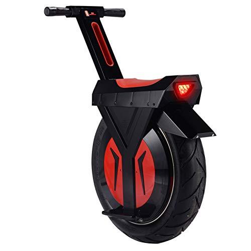 Motociclo Monoruota Somatosensoriale Intelligente Elettrico per Adulti, Scooter da Drift Monociclo con Pneumatici Larghi Autobilanciati, con Luci,Nero