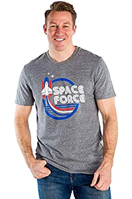 Tipsy Elves Men's Grey Space Force Shirt - USA Patriotic Shirt: L