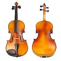 バイオリン 初心者入門セット ハードケース、松脂、弓を持つ子供の初心者の学生のためのキッズ大人バイオリンセット サイレント バイオリン (Color : Brown, Size : 3/4)