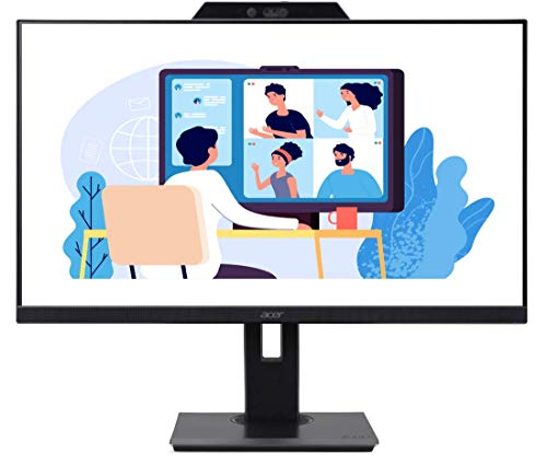 Acer B277 27 Inch Full HD 1920 X 1080 LED Monitor with FHD Webcam, Height Adjustment and Pivot, VGA HDMI and Display Port, Stereo Speakers