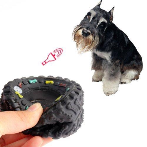 N-K Hund kauen quietschende Spielzeug-Reifen-Treter Starkes Spielzeug-Welpen-Haustier-haltbarer Gummi stilvoll und populärzuverlässig