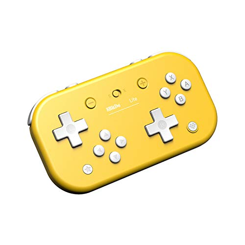 8Bitdo - Mando Wireless Switch Lite Amarillo Nintendo