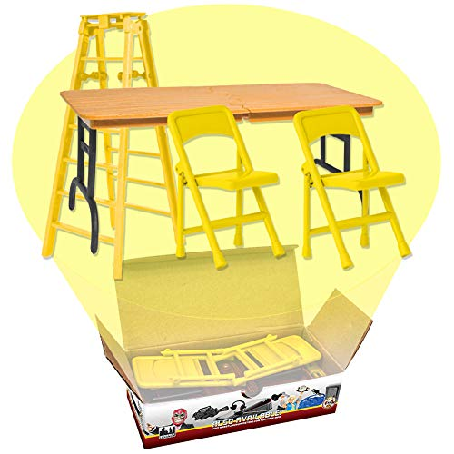 Ultimate Ladder, Table & Chairs Yellow Playset for WWE Wrestling Action Figures