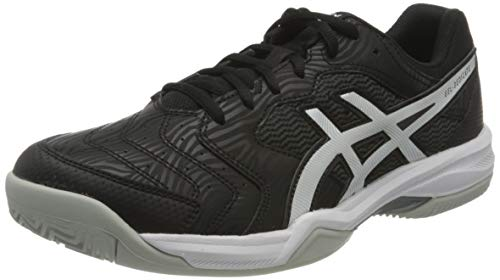 Asics Gel-Dedicate 6 Clay, Tennis Shoe Hombre, Black/White, 47 EU