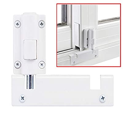 Patio Sliding Door Security Foot Lock Kick Lock, Fits on Top Rail-Childproof Patio Door Guardian-or Bottom Rail-Foot Operated-Keep Your Family Safe and Secure
