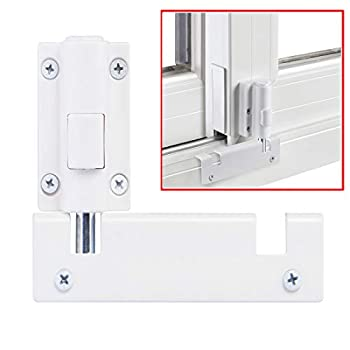 Patio Sliding Door Security Foot Lock Kick Lock  Fits on Top Rail-Childproof Patio Door Guardian-or Bottom Rail-Foot Operated-Keep Your Family Safe and Secure 1 Pack,White