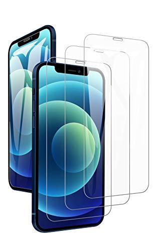 JOYSKY For iphone12 Mini ガラスフィルム 3枚セット 日本旭硝子 9H 貼り付け簡単 全面 iphone12 Mini 用 フィルム 気泡 浮き無し サラサラ 撥水撥油 アイフォン12 Mini 用ガラスフィルム 5.4インチ クリア