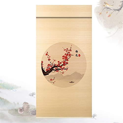 QIANDA Persiana de Bambú,Oscurecimiento La Habitación Filtro Solar Aislamiento Térmico Durable para Interior Separar Decoración, Talla Personalizable (Color : A, Size : 80X180cm)