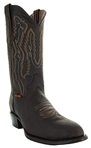 Soto Boots Odessa Herren Cowboystiefel mit rundem Zehenbereich, Braun (braun), 39 EU