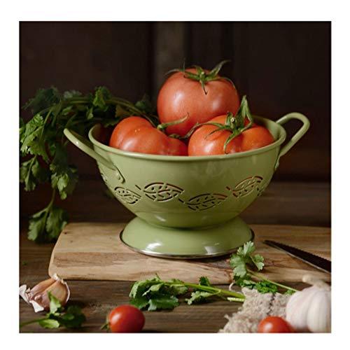 Cesta de Frutas Frutero Retro de Hierro Forjado, Cesta de Frutas Colgante binaural con Orificio de Drenaje, Bandeja de Frutas para Limpieza de Frutas de Cocina Pisos Cuencos (Color : M-2)