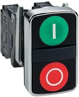 Non-Illum Push Button, 2 Flush, I/O