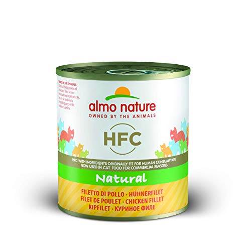 almo nature HFC Natural Filetto di Pollo Umido Gatto 100% Naturale - Confezione da 12 x 280 g