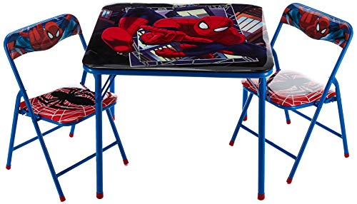 Product Image of the Idea Nuova Marvel Spiderman 3 Piece Children's Activity Square Table and Chair...