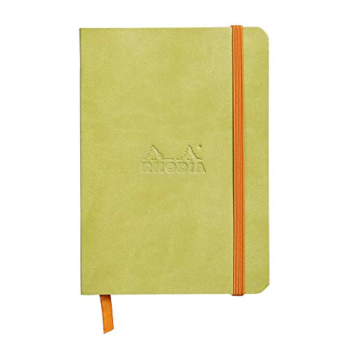 Rhodia Rhodiarama SoftCover Notebook - 72 Dots Sheets - 4 x 5 1/2 - Anise Cover