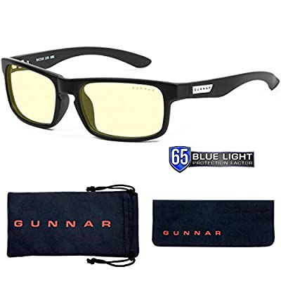Gaming Glasses | Blue Light Blocking Glasses | Enigma/Onyx by Gunnar | 65% Blue Light Protection, 100% UV Light, Anti-Reflective To Protect & Reduce Eye Strain & Dryness