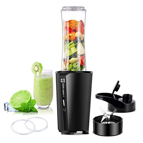 Bullet Blender for Kitchen, Personal Smoothies Blender for Shakes and Fruits Juice Mixer with 20oz Portable Bottle, Travel Lid, 300W