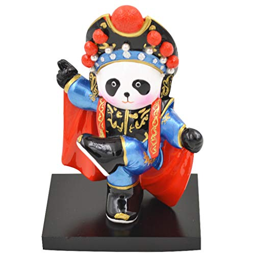 Panda Q Versión Dibujos Animados Ópera De Pekín Adornos De Escritorio De Facebook Moda Creativa Exquisito Decoración De Coches Artesanía