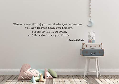 Sticker mural You are Braver Than You Believe Stronger Than You Seem Smarter Than You Think