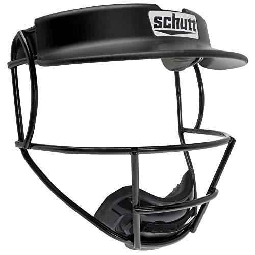 Schutt Sports Titanium V2 Softball Fielder's Guard Varsity Faceguard with Visor, Black